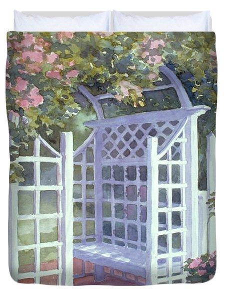 Garden Trellis Duvet Cover