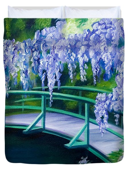 Gardens Of Givernia II Duvet Cover by James Christopher Hill