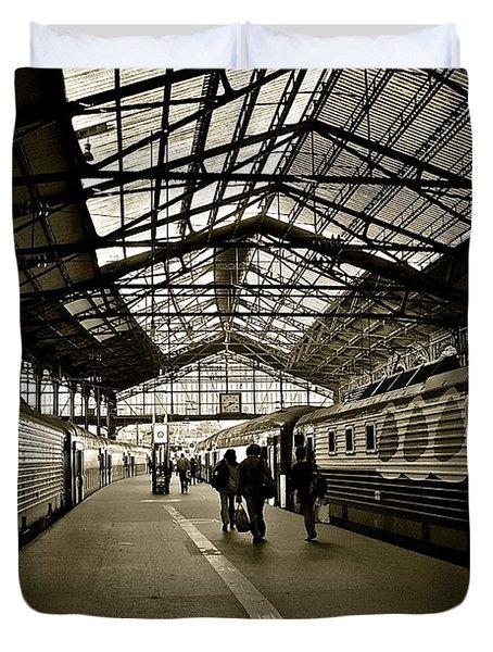 Duvet Cover featuring the photograph Gare De Saint Lazare by Eric Tressler