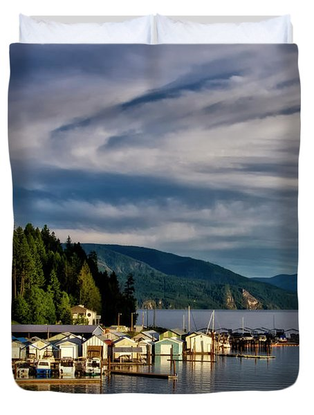 Duvet Cover featuring the photograph Garfield Bay by Albert Seger
