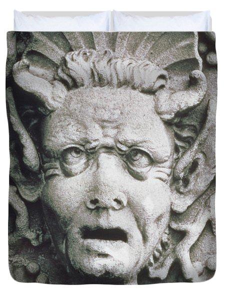 Gargoyle Duvet Cover by Simon Marsden