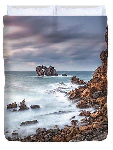 Gate In The Ocean Duvet Cover by Evgeni Dinev