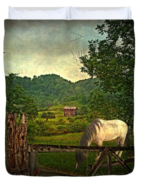Gate To The Past Duvet Cover by Lianne Schneider