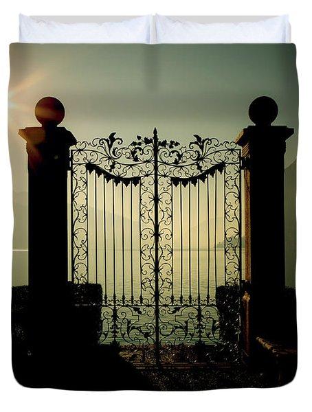 Gateway To The Lake Duvet Cover by Joana Kruse