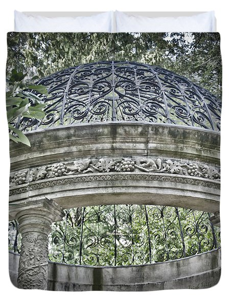 Gazebo At Longwood Gardens Duvet Cover
