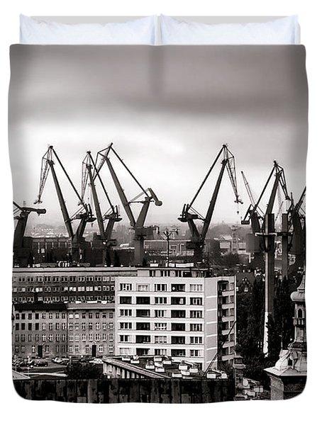 Gdansk Shipyard Duvet Cover