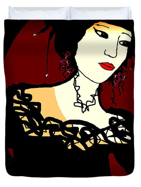 Geisha 1 Duvet Cover by Natalie Holland