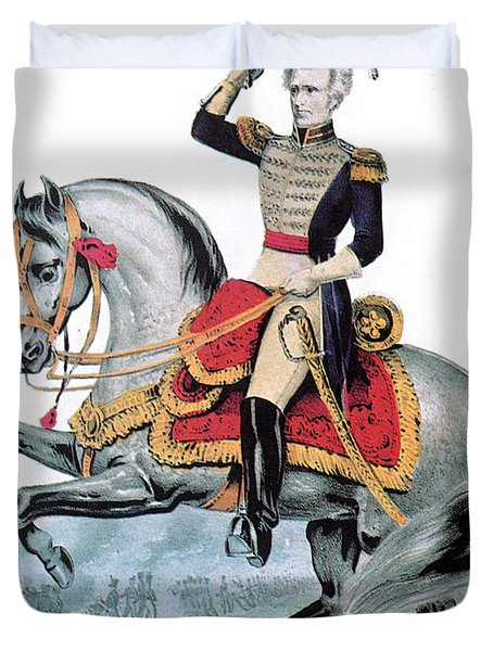 General Andrew Jackson, Hero Of New Duvet Cover by Photo Researchers