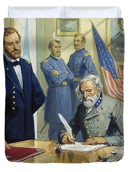 General Ulysses Grant Accepting The Surrender Of General Lee At Appomattox  Duvet Cover