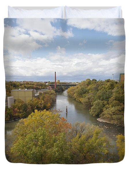 Duvet Cover featuring the photograph Genesee River by William Norton