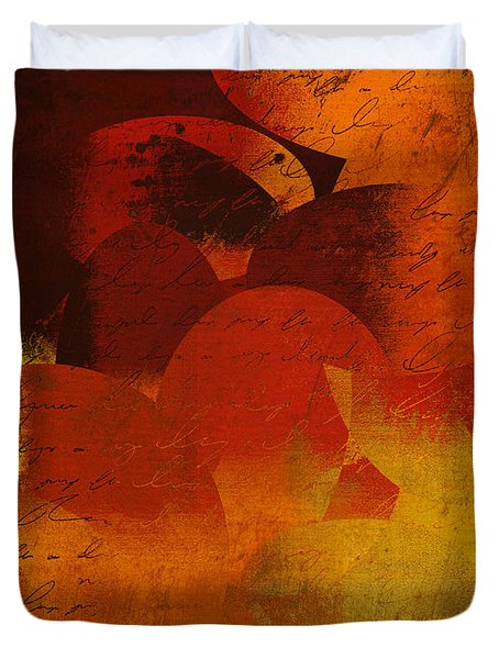 Geomix 05 - 02at02b Duvet Cover by Variance Collections