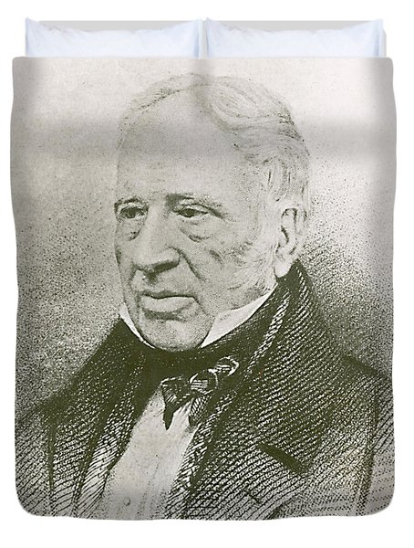 George Cayley, English Aviation Engineer Duvet Cover by Science Source