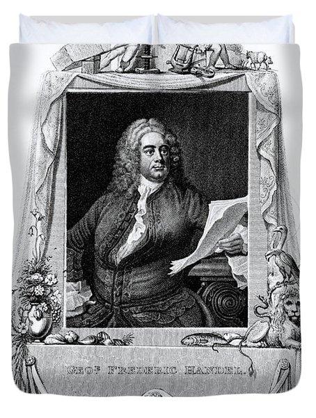 George Frideric Handel, German Baroque Duvet Cover by Omikron