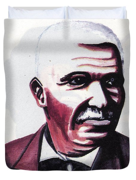 Georges Washington Carver Duvet Cover by Emmanuel Baliyanga