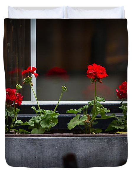 Geranium Flower Box Duvet Cover by Doug Sturgess