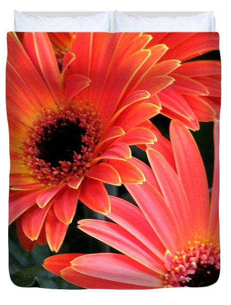 Duvet Cover featuring the photograph Gerbera Bliss by Rory Sagner