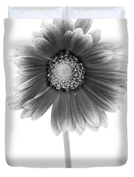 Gerbera In Black And White Duvet Cover