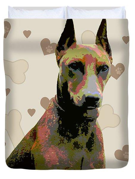German Pinscher Duvet Cover by One Rude Dawg Orcutt