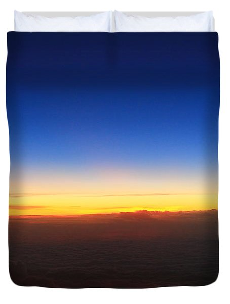 Getting Dark Duvet Cover by Catie Canetti