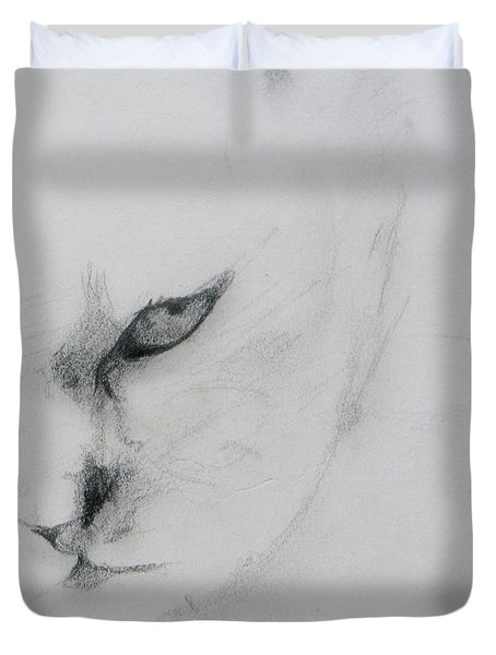 Ghost Cat Duvet Cover