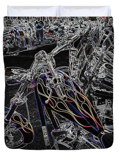 Duvet Cover featuring the photograph Ghost Rider 2 by Anthony Wilkening