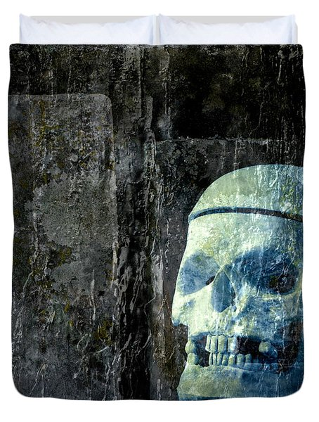 Ghost Skull Duvet Cover by Edward Fielding
