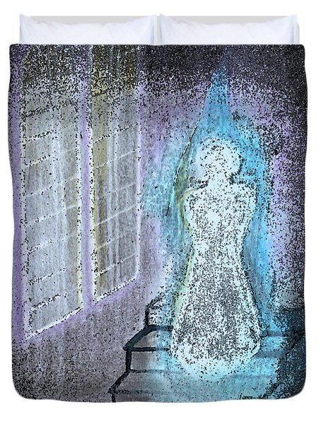 Ghost Stories Haunted Stairs Duvet Cover by First Star Art