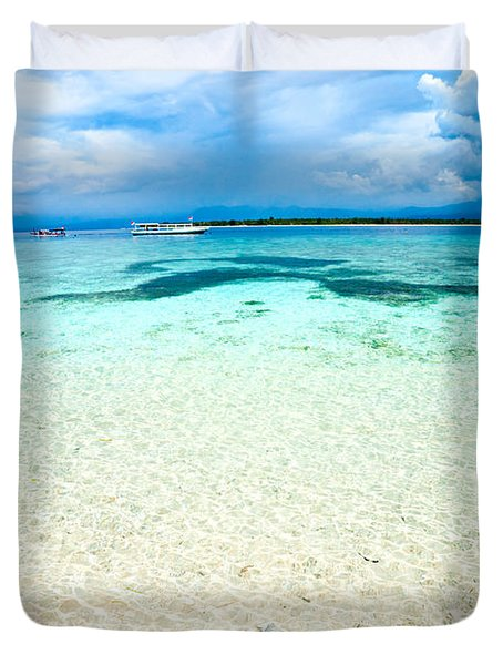 Duvet Cover featuring the photograph Gili Meno - Indonesia. by Luciano Mortula