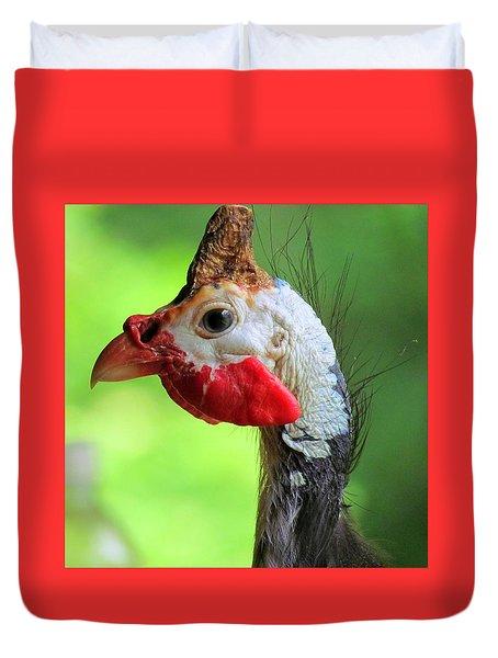 Ginny The Guinea Hen Duvet Cover