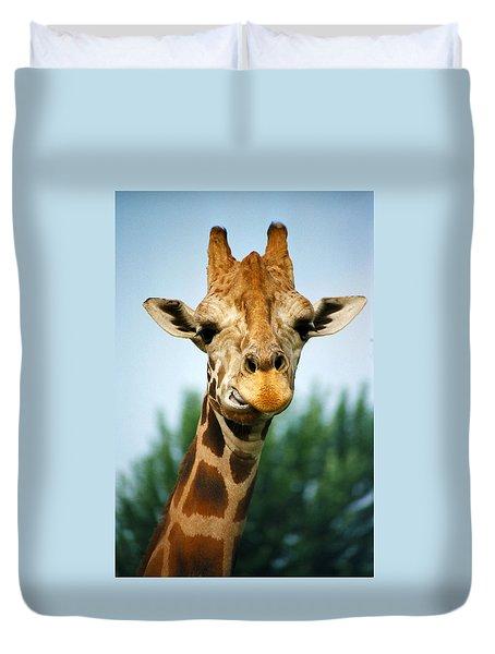 Giraffe Duvet Cover by CJ Clark