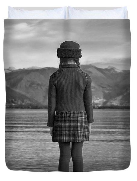 Girl At A Lake Duvet Cover by Joana Kruse