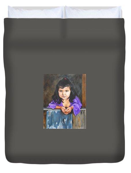Girl From San Luis Duvet Cover