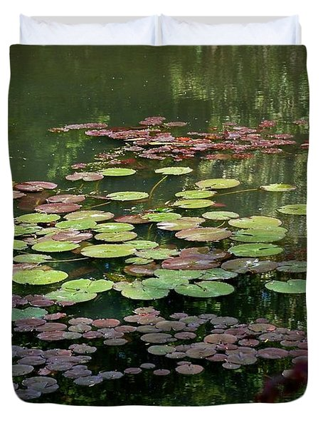 Giverny Lily Pads Duvet Cover by Eric Tressler