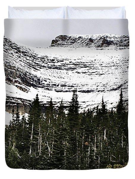 Glacier Park Bowlrock Duvet Cover by Susan Kinney