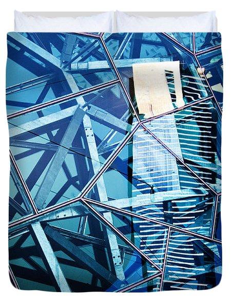 Glasshouse City Duvet Cover by Andrew Paranavitana