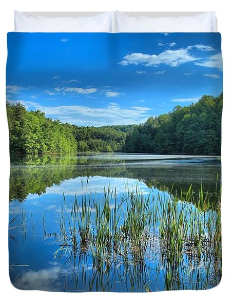 Glassy Waters Duvet Cover by Adam Jewell