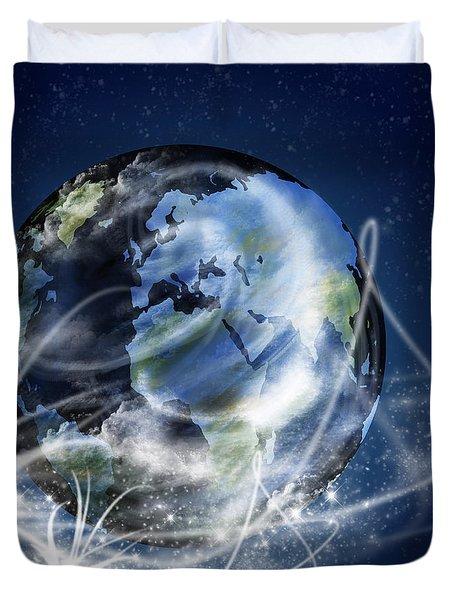 Globe Duvet Cover by Setsiri Silapasuwanchai