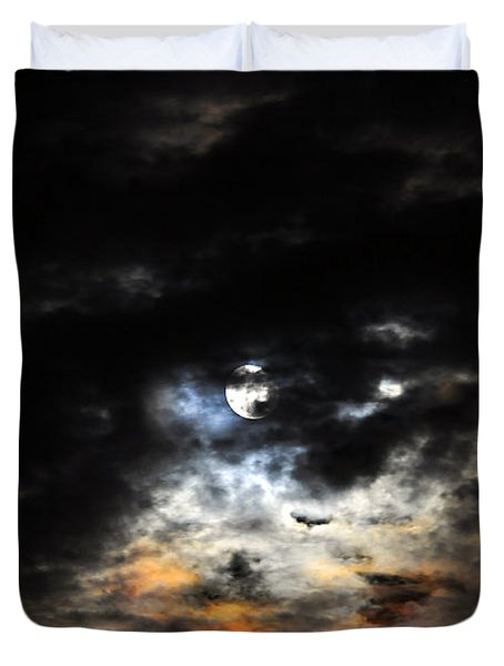 Glorious Gibbous - Wide Version Duvet Cover by Al Powell Photography USA