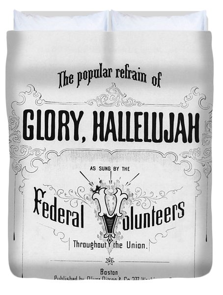 Glory, Hallelujah Duvet Cover by Photo Researchers