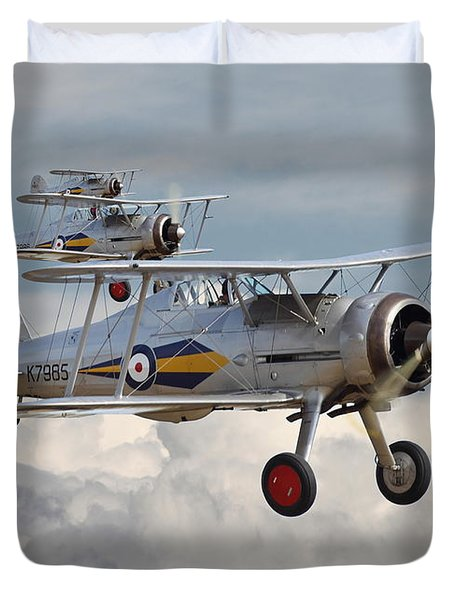 Gloster Gladiator Duvet Cover by Pat Speirs