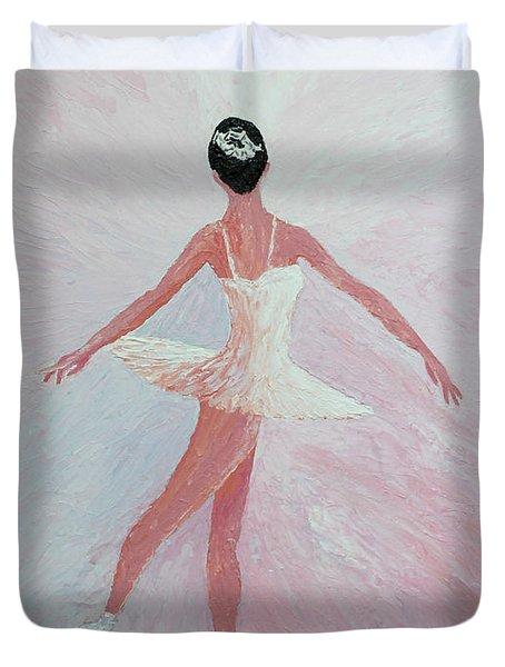 Glowing Ballerina Original Palette Knife  Duvet Cover