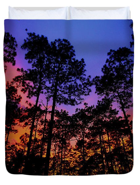 Glowing Forest Duvet Cover