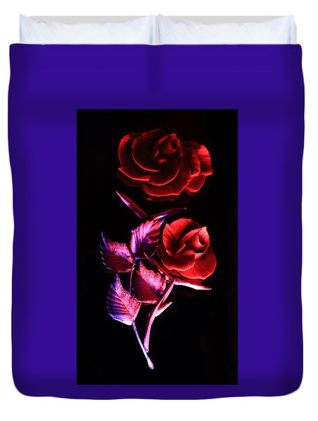 Glowing Glass Rose Duvet Cover