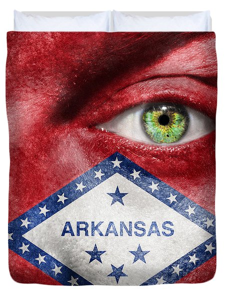 Go Arkansas  Duvet Cover by Semmick Photo