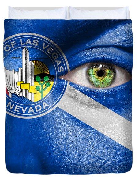 Go Las Vegas Duvet Cover by Semmick Photo