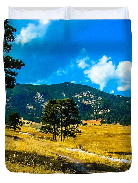 Duvet Cover featuring the photograph God's Country by Shannon Harrington
