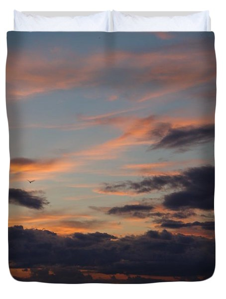 Duvet Cover featuring the photograph God's Evening Painting by Bonfire Photography