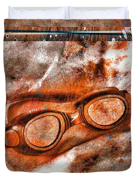 Goggles Duvet Cover by Mauro Celotti