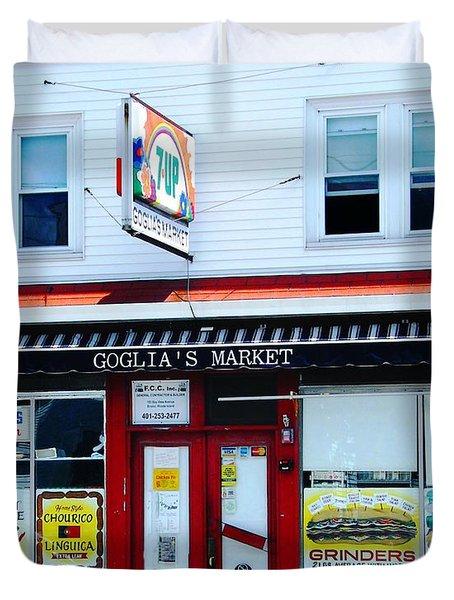 Goglias Market Bristol Ri Duvet Cover