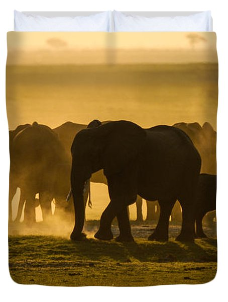 Gold Dust Gathering Duvet Cover